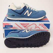 New Balance Men's Rugby 574 Classics Running Shoes ML574RUC in Blue