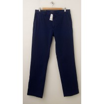 NEW Banana Republic Aiden Slim-Fit Printed Chino Pants in Blue