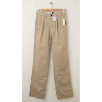 GapKids Boy's GapShield Easy Fit Pleated Pant in Cargo Khaki