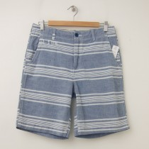 NEW GapKids Boy's Flat Front Shorts in Blue Stripe
