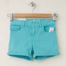 GapKids Girl's 1969 Classic Rolled Hem Denim Shorts in Swimming Blue