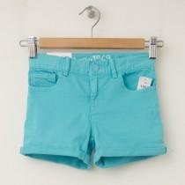 GapKids Girl's 1969 Classic Rolled Hem Denim Shorts in Swimming Blue