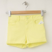 GapKids Girl's 1969 Classic Rolled Hem Denim Shorts Neon Lemon Yellow