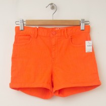 GapKids Girl's 1969 Classic Rolled Hem Denim Shorts in Bright Mandarin