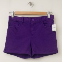 GapKids Girls 1969 Classic Rolled Hem Denim Shorts in Ultraviolet Wave
