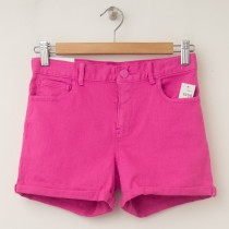 GapKids Girl's 1969 Classic Rolled Hem Denim Shorts in Phoebe Pink