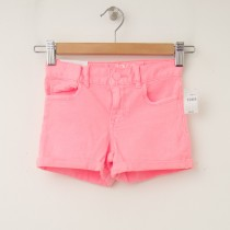 GapKids Girl's 1969 Classic Rolled Hem Denim Shorts in Neon Flamingo
