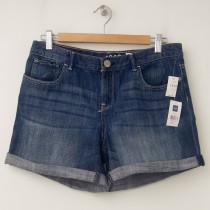 NEW GapKids Girl's 1969 Rolled Shorty Denim Shorts in Denim