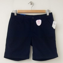 NEW GapKids Girl's GapShield Uniform Flat Front Shorts in True Navy