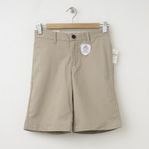GapKids Boy's GapShield Uniform New Flat Front Short in Cargo Khaki