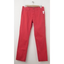 NEW Gap Men's Lived-In Slim Khaki Pants in Hula Red