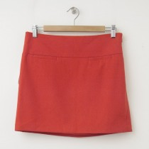 NEW Gap Wool Mini Skirt in Festive Orange