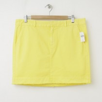 NEW Gap Twill Mini Skirt in Ariel Yellow