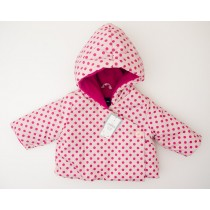 babyGap Favorite Polka Dot Kimono Hooded Jacket in Dull Rose