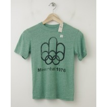 NEW GapKids Summer Olympics Montreal 1976 Graphic Tee T-Shirt in Green
