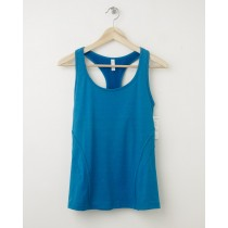 NEW Gap GapFit Fitted Heathered Shelf Bra Tank in Skater Blue