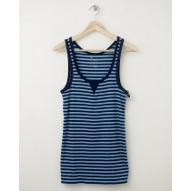 NEW Gap Women's Gap Striped Rib Patch Tank in Bold Blue