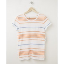 NEW Gap Women's The Essential Multi-Stripe Crew Tee T-Shirt in White Stripe