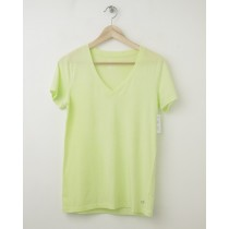 NEW Gap Women's GapFit Breathe V-Neck Tee T-Shirt in Active Yellow