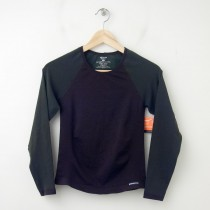 NEW Patagonia Capilene Body Core Performance Seamless Long Sleeve Tee in Brown