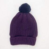 NEW babyGap Ribbed Pom-Pom Hat in Grape Juice