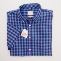 Gap Lived-In Wash Short Sleeve Gingham Shirt in Desert Violet