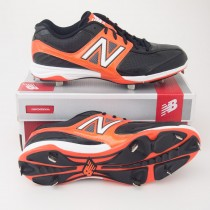 New Balance 4040 Low Cut Baseball Cleats MB4040BO in Black with Orange