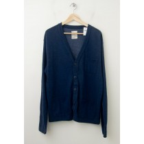 NEW Gap Heavy Jersey Cardigan Sweater in Washed Medium Blue