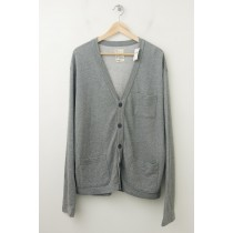 NEW Gap Heavy Jersey Cardigan Sweater in Grey
