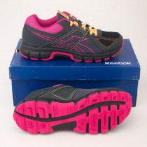 Reebok Women's Record Finish RS Trail Running Shoes V47083 in Black/Gravel/Pink/Orange