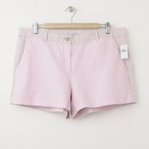 NEW Gap Sunkissed Tonal Colorblock Linen Short Shorts in Pink