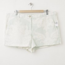 NEW Gap Sunkissed Printed Linen Short Shorts in Light Peppermint