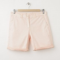 NEW Gap Boyfriend Roll-Up Bermuda Shorts in Peach Sorbet