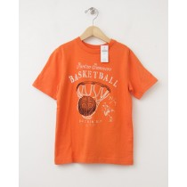 NEW GapKids Basketball Graphic Tee T-Shirt in Tangy Orange