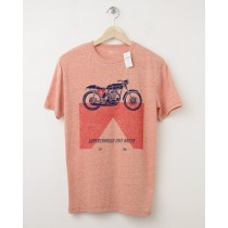 NEW GapKids Motorcycle Graphic Tee T-Shirt in Grenadine Orange