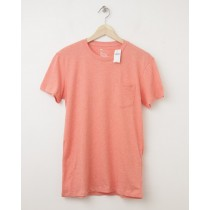 NEW Gap The Essential Pocket Tee T-Shirt in Orange Heather