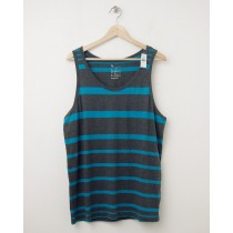 NEW Gap Variegated Striped Tank in Blue & Charcoal