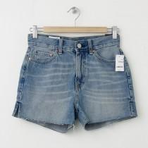NEW Gap 1969 Raw-Edge High-Rise Cut-Off Denim Shorts in Collier Wash