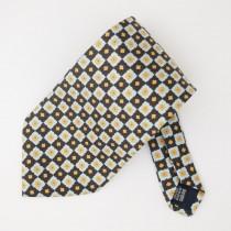 Gabbanini Silk Geometric Floral Print Tie
