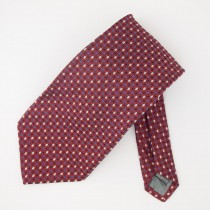 Robert Talbott Silk Woven Geometric Print Tie