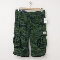 NEW GapKids Boy's Long Cargo Camo Ranger Shorts in Green Camo