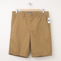"NEW Gap Classic 11"" Flat Front Shorts in Cream Caramel"