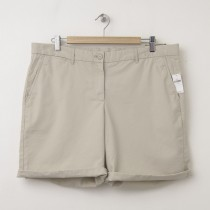 NEW Gap Boyfriend Roll-Up Bermuda Shorts in Soft Khaki