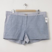 NEW Gap Sunkissed Tonal Colorblock Linen Short Shorts in Blue