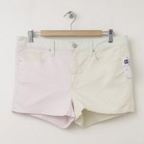 NEW Gap 1969 Colorblock Maddie Slim Denim Shorts in Pink Dogwood