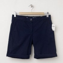 NEW Gap Boyfriend Roll-Up Bermuda Shorts in Navy
