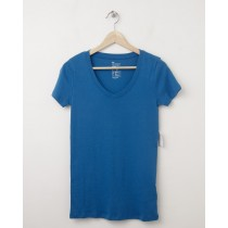 NEW Gap Women's The Favorite V-Neck Tee T-Shirt in Mascot Blue