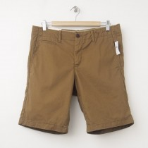 "NEW Gap Lived-In Flat Front Shorts (10"") in Palamino Brown"
