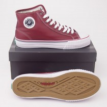 PF Flyers Center Hi Leather Archival Reissue Hi-Top Sneakers PM09CH3L in Red