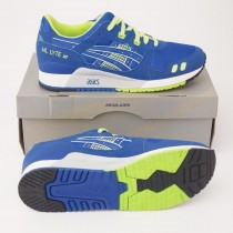 Asics Men's Gel-Lyte III Sprite Classic Running Shoes H30EK-9059 in Royal Blue & Neon Green
